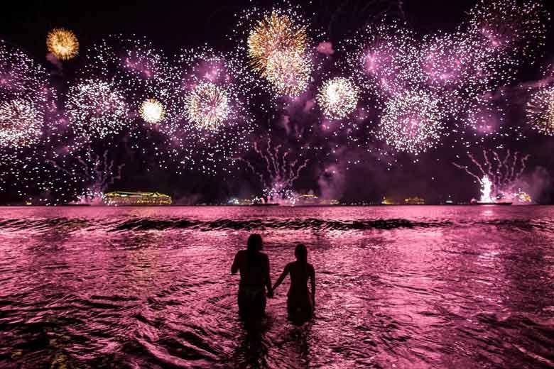 Фейерверки на Новый год в Бразилии