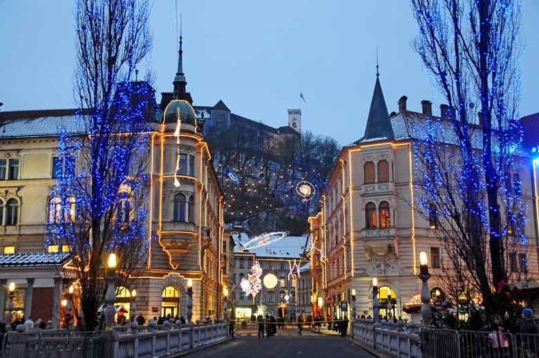 новогодняя Любляна