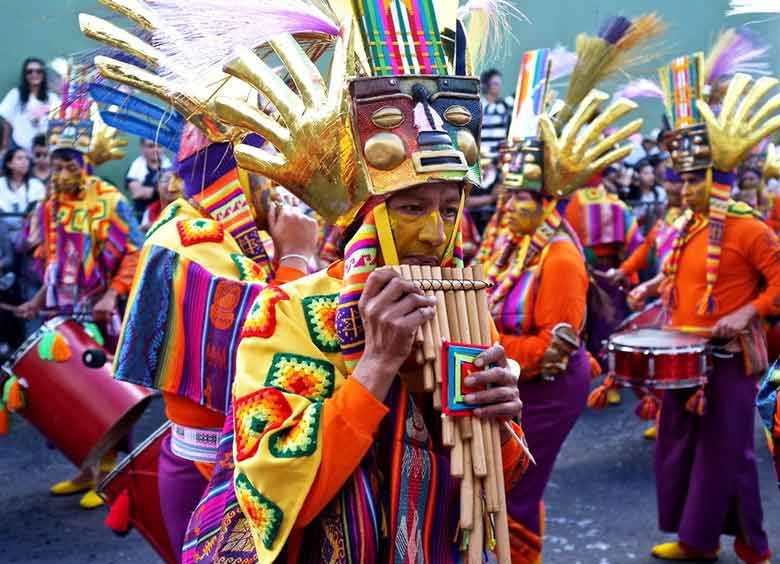 музыкант в Перу
