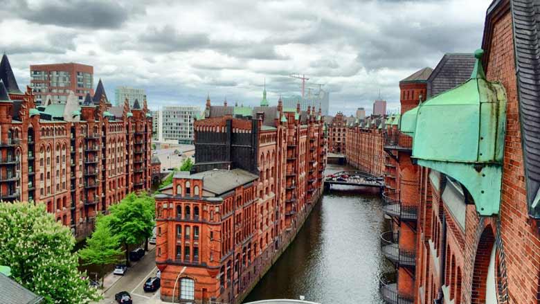 Портовый комплекс Гамбурга