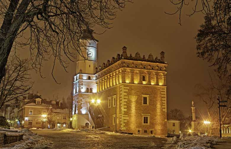 замки Польши зимой