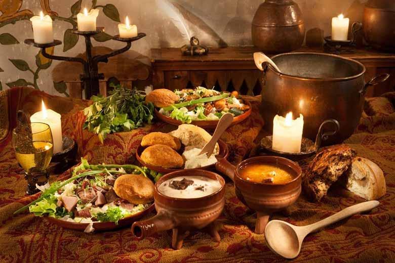 средневековый ресторан в Эстонии