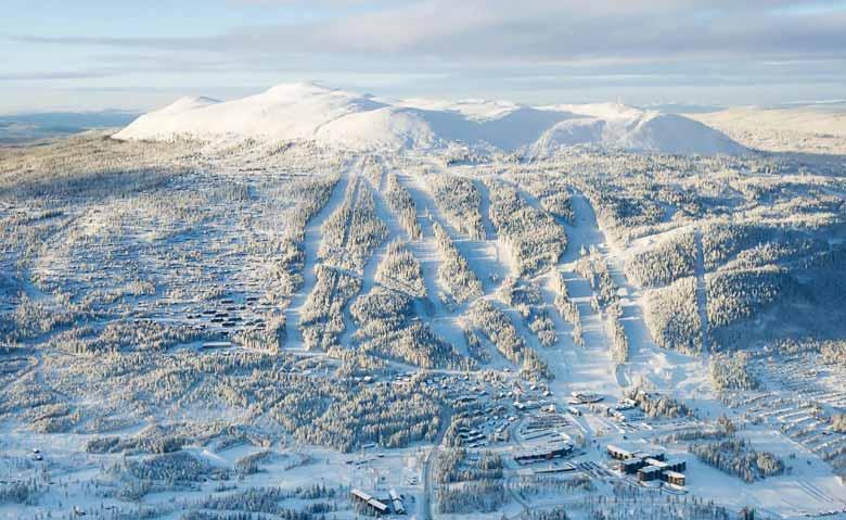 гора Орескутан в Швеции