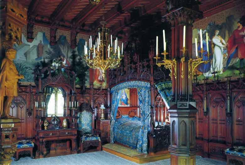 Спальня в замке Нойшвайнштайн