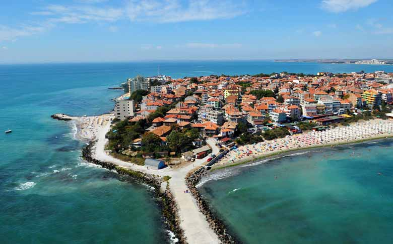 Пляж Поморие в Болгарии