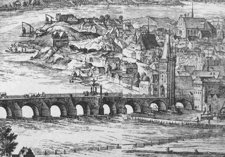Карлов мост на гравюре