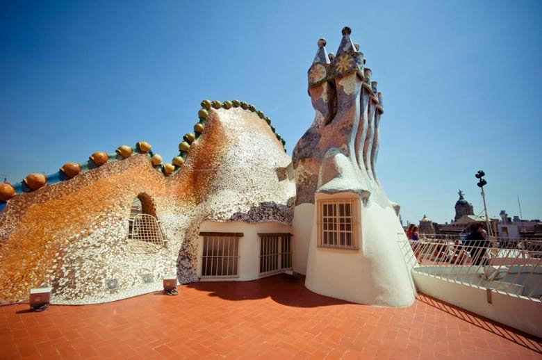 Casa-Batllo - смотровая площадка
