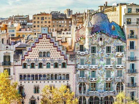 Casa Batllo в Барселоне - фасад