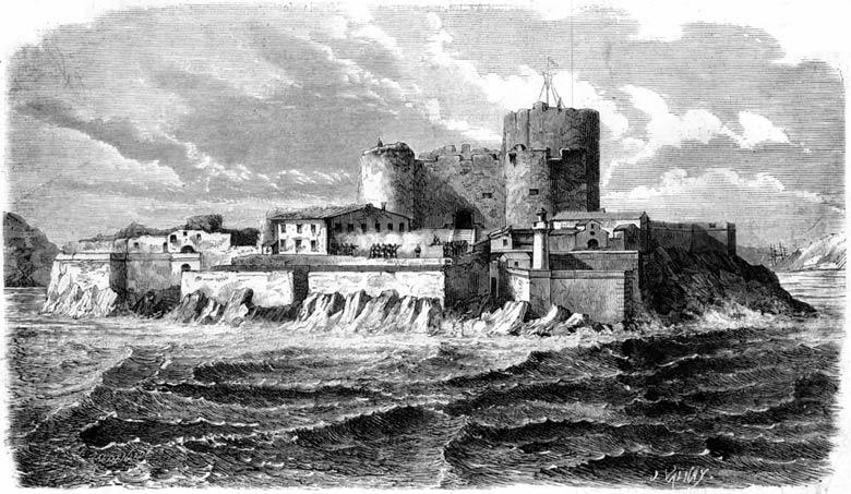 Замок Иф на старинной гравюре