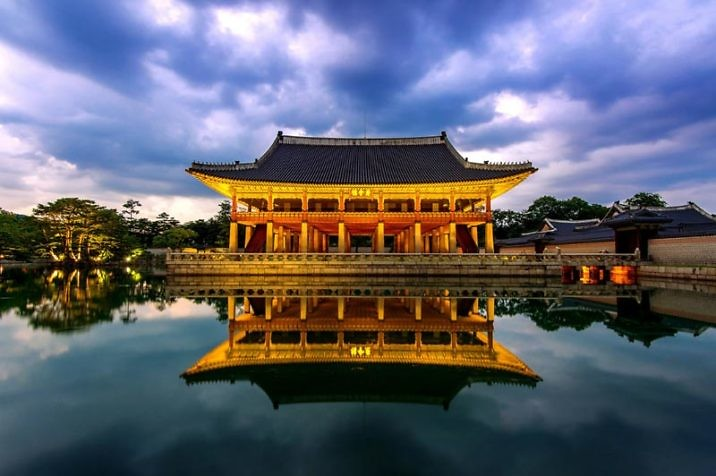 Королевский дворец Кёнбоккун в Сеуле