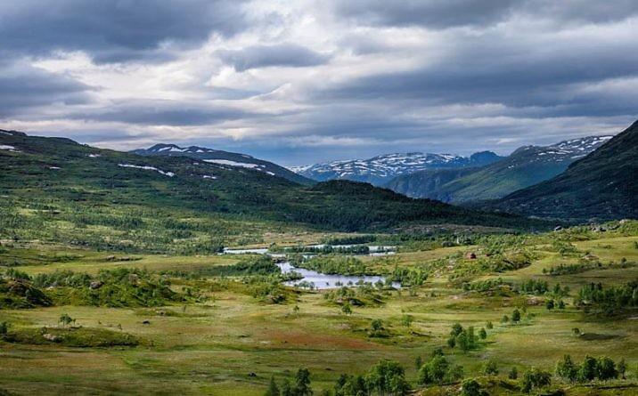 Плато Хардангервидда в Норвегии