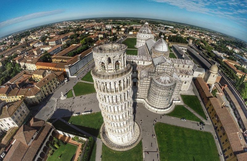 Вид с Пизанской башни, Италия