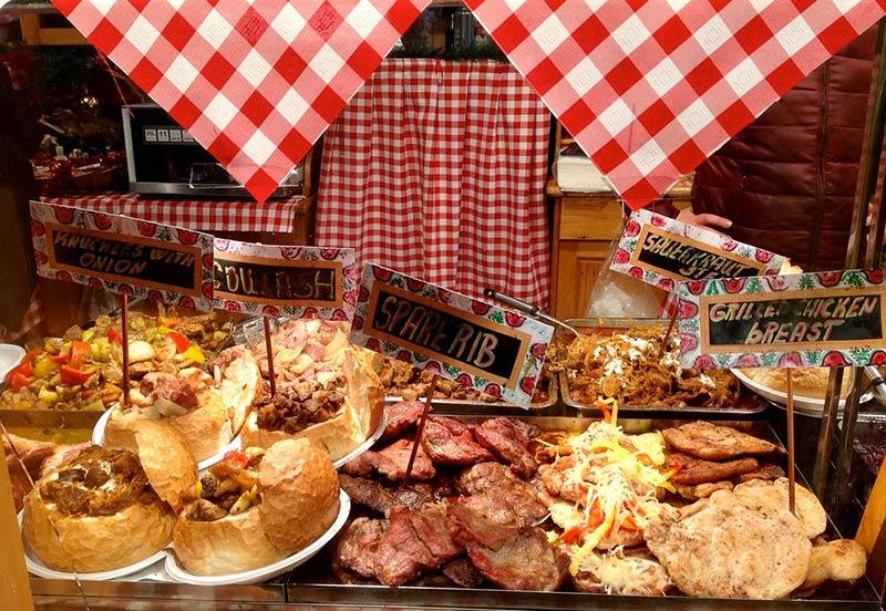 Рождественская еда в Будапеште