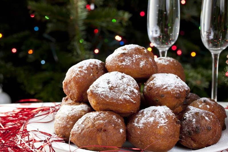 Рождественские пончики в Нидерландах