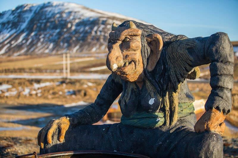 Великанша Грила в Исландии